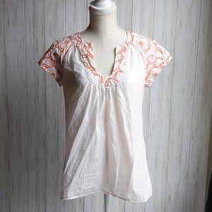 Anthropologie/Tabitha Embroidered Blouse size 8